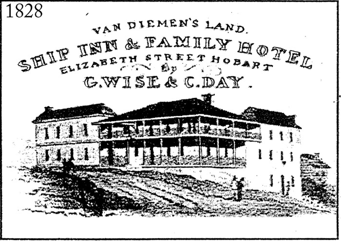 1828 Advertisement for the Ship Inn
