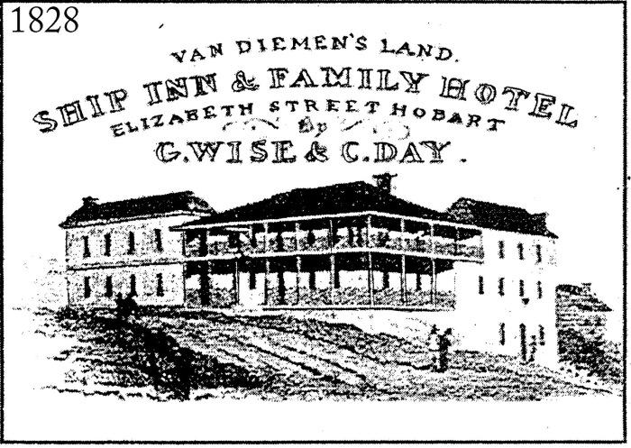 1828 Advertisement for the Ship Inn