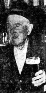 Bob Hall, 87, at the Northern Star Hotel, Hamilton
