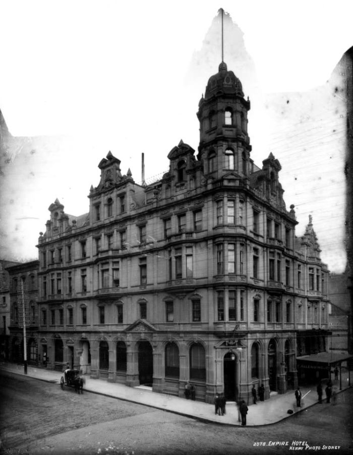 The Empire Hotel, built to replace the Currency Lass in 1887.