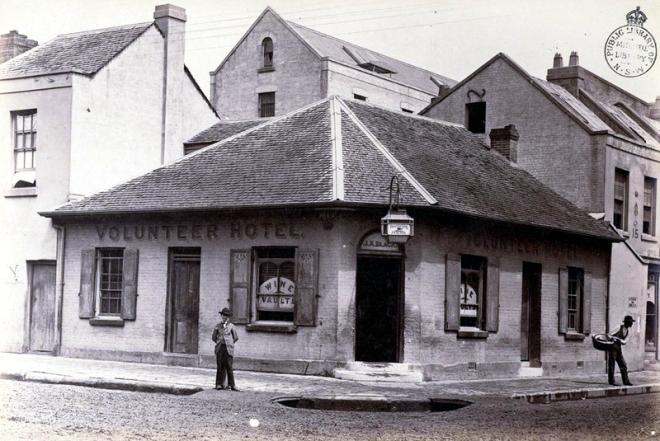 James Black's Volunteer Hotel in the 1870s.