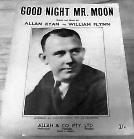The original sheet music of Goodnight Mr Moon.