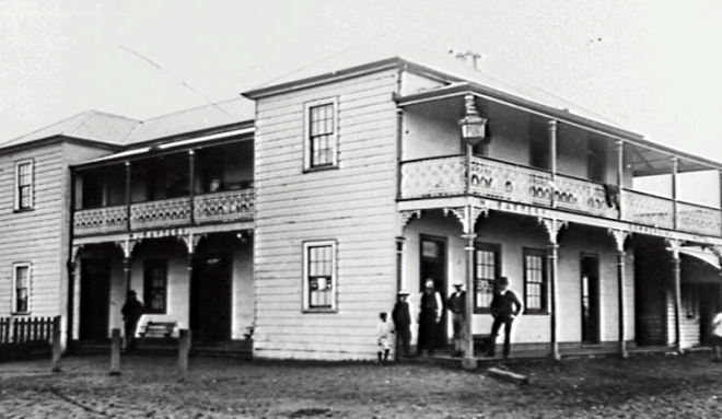 The Commercial Hotel, Albion Park during the latter part of the 19th century.