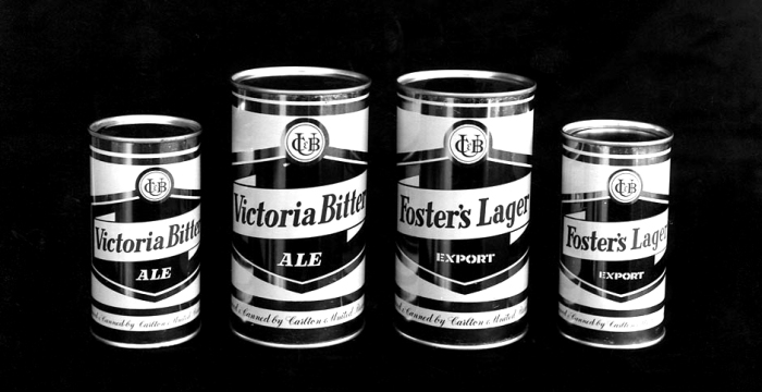 foster beer tin